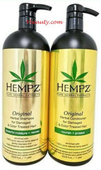 Hempz Original Shampoo & Conditioner for damaged hair 33.8 Liter Duo