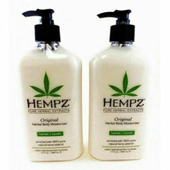 Hempz Pure Herbal Original Extracts Body Moisturizer 17oz (Pack of 2)