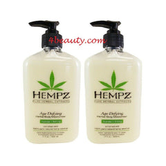 Hempz Age Defying Herbal Body Moisturizer 17 Oz (pack of 2)