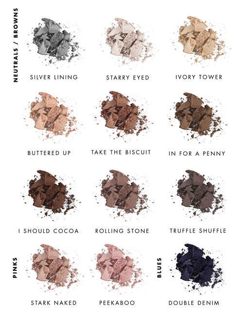 Lily Lolo pressed eyeshadow guide