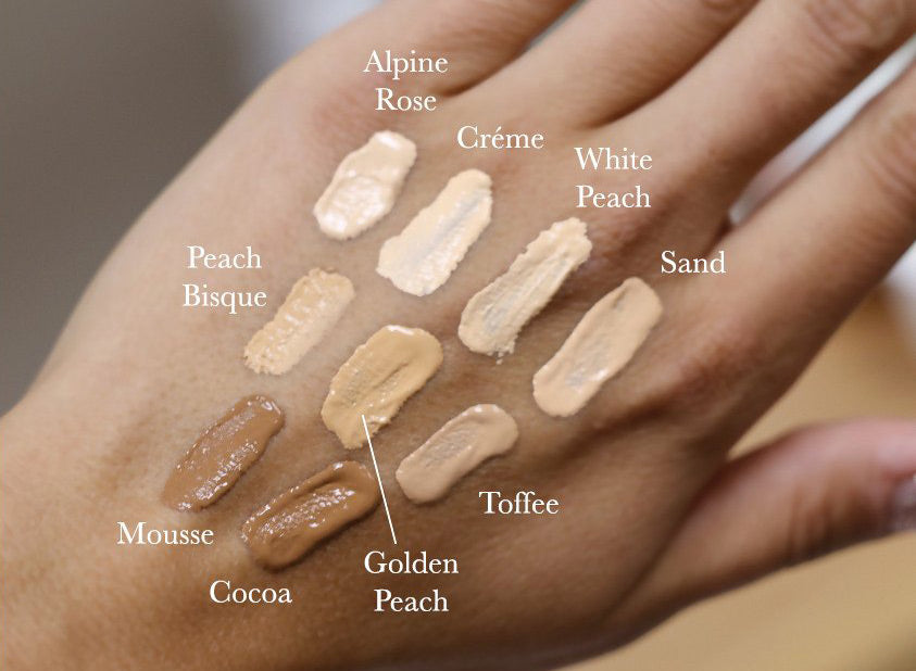 Fruit Pigmented Healthy Foundation Swatches