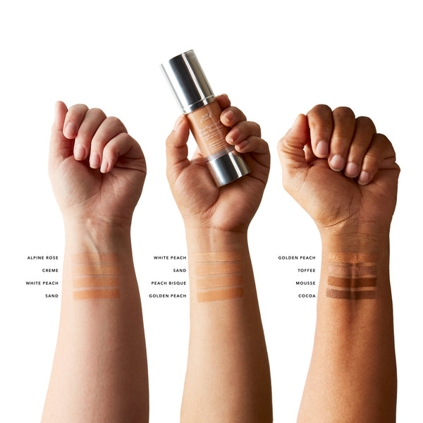 Fruit Pigmented® Healthy Foundation Swatches