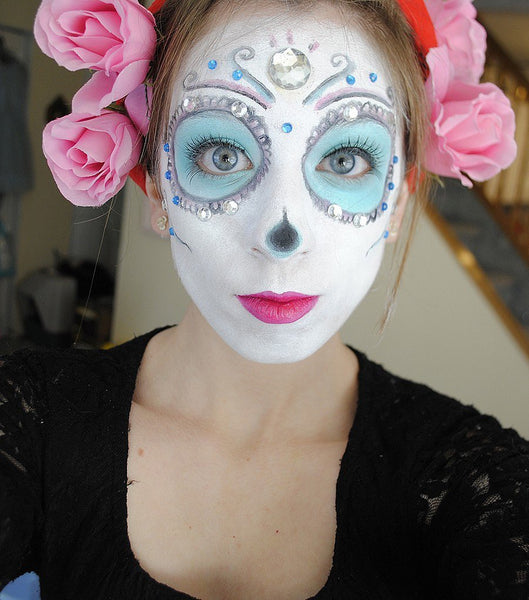 Diamond Death Skull Makeup