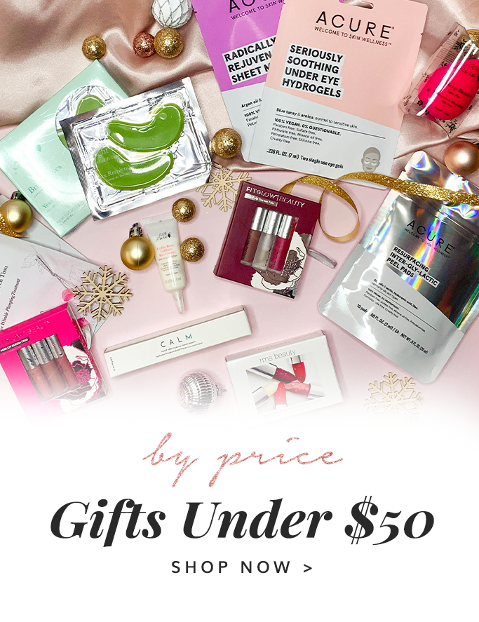 Gifts under $50 Stocking Stuffers Clean Beauty