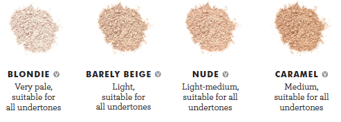 Lily Lolo Concealer shade guide