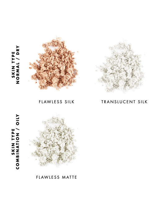 Lily Lolo finishing powder shade guide