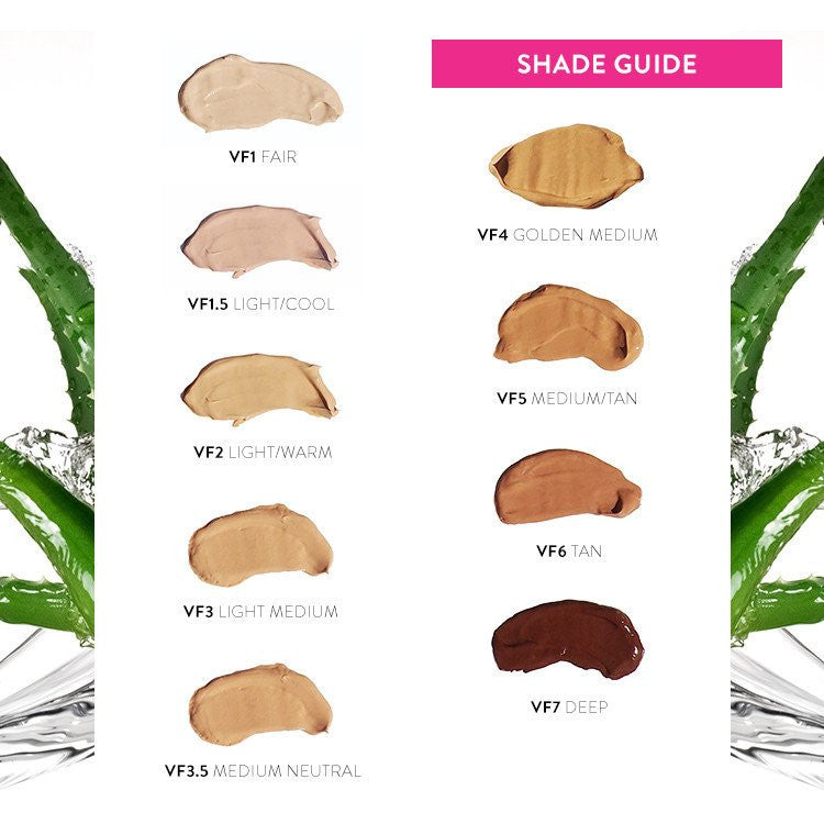 Fitglow Vita Active Foundation Shade Guide