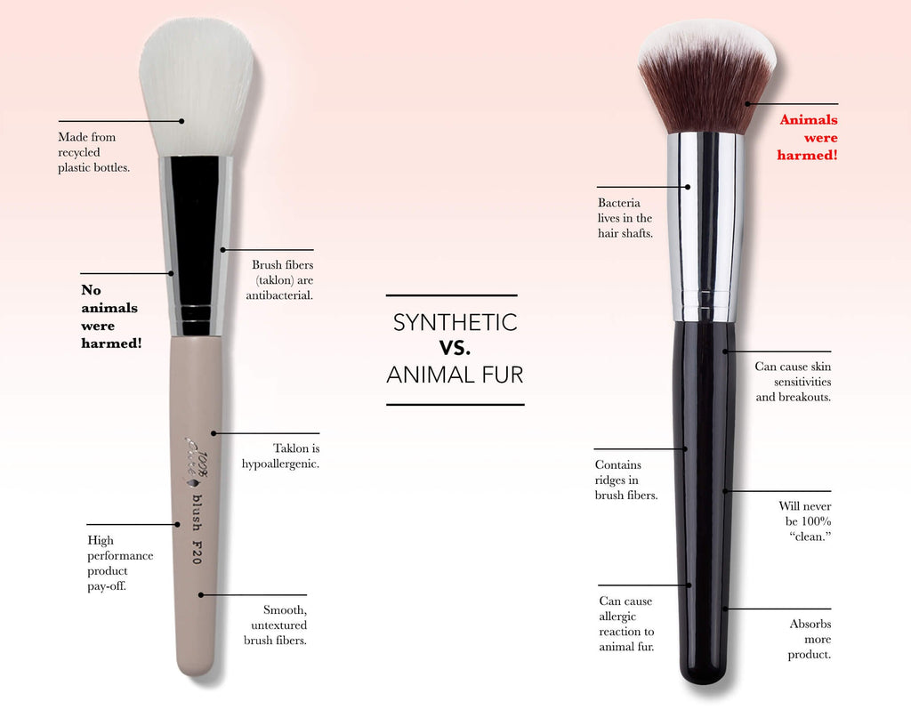 100% pure makeup brushes