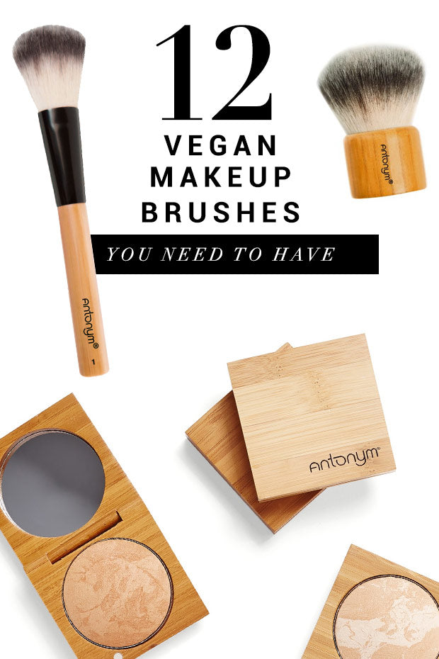 12 Vegan Makeup Brushes from Antonym Cosmetics