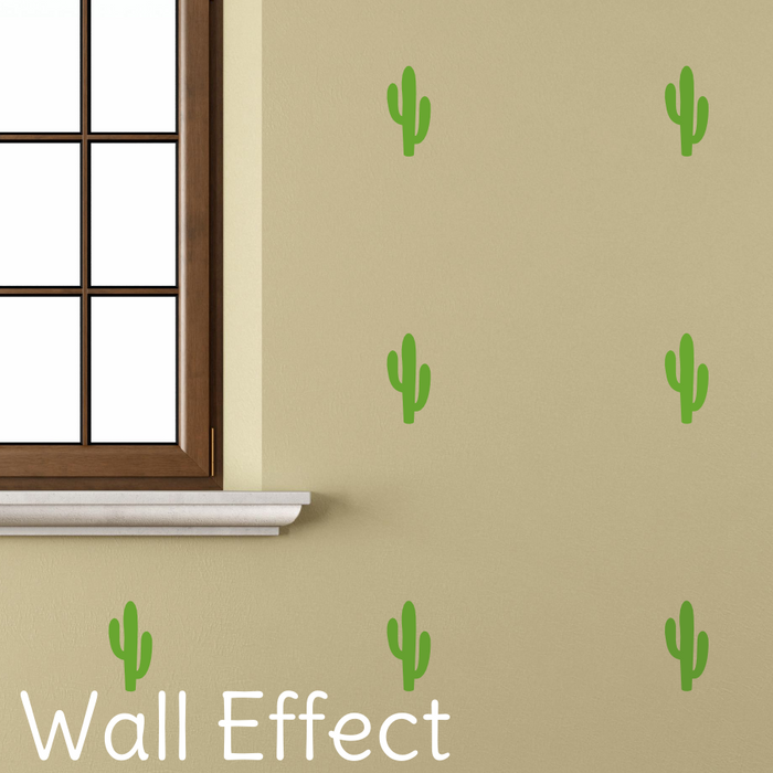 Cactus Wall Decals - GREEN