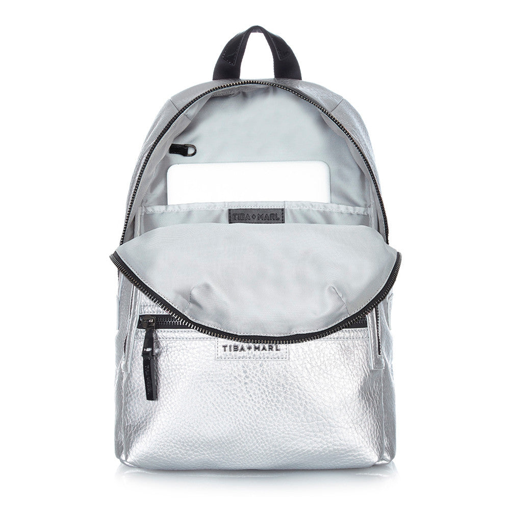 Elwood Backpack Silver - NAPPY/DIAPER BAG