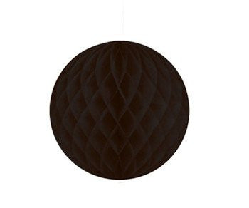 Large Honeycomb Tissue Ball - Black
