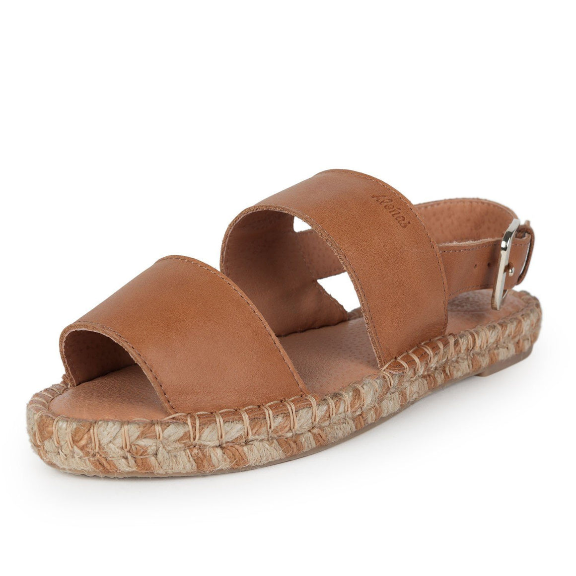 Double Strap Camel Flat Sandals Alohas fashion espadrilles flat leather