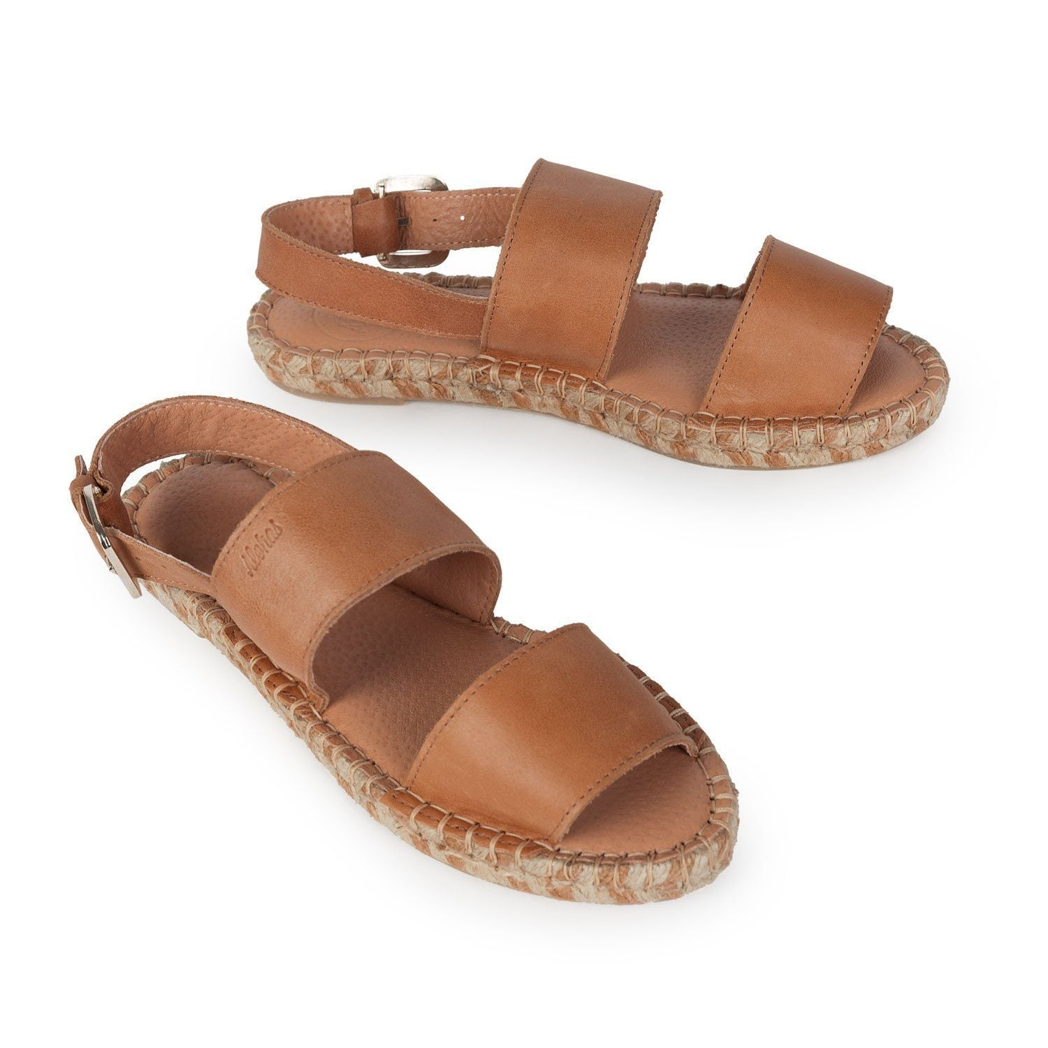 ALOHAS Leather Backstrap Sandal FhwSHIj