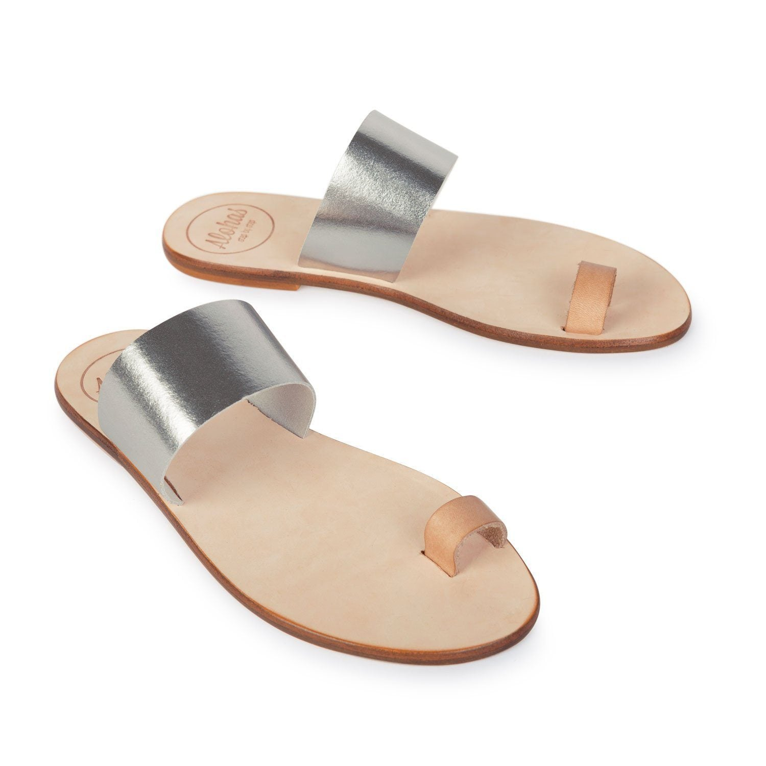 Helena silver alohas sandals for Minimalist house slippers