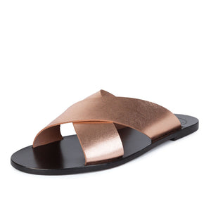 Greek Style Sandals leather shoes made in spain minimalist style black rose gold footwear sophia rose gold 0
