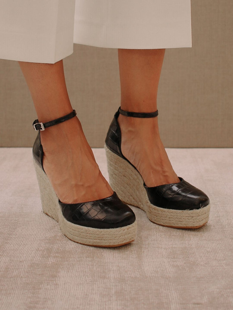 Clara Sunset Black Croco