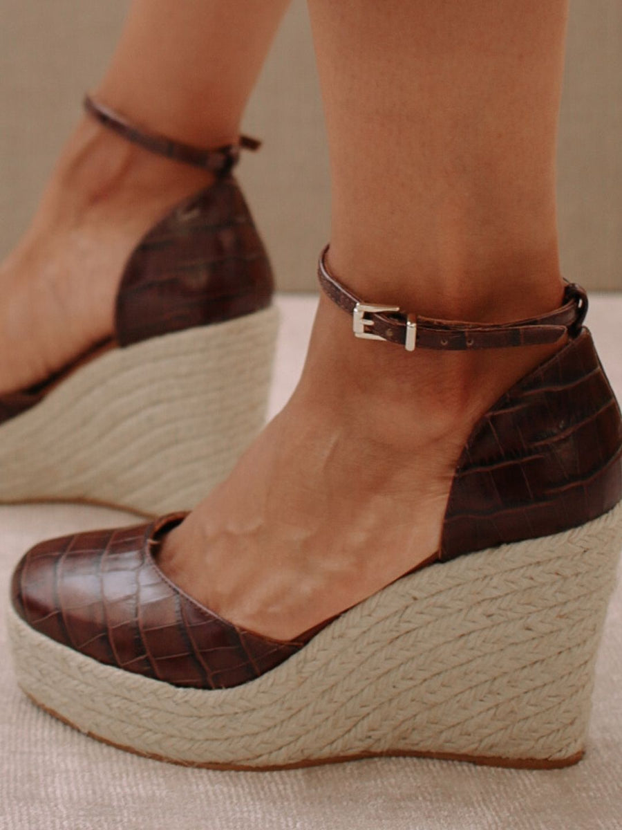 Clara Sunset Brown Croco