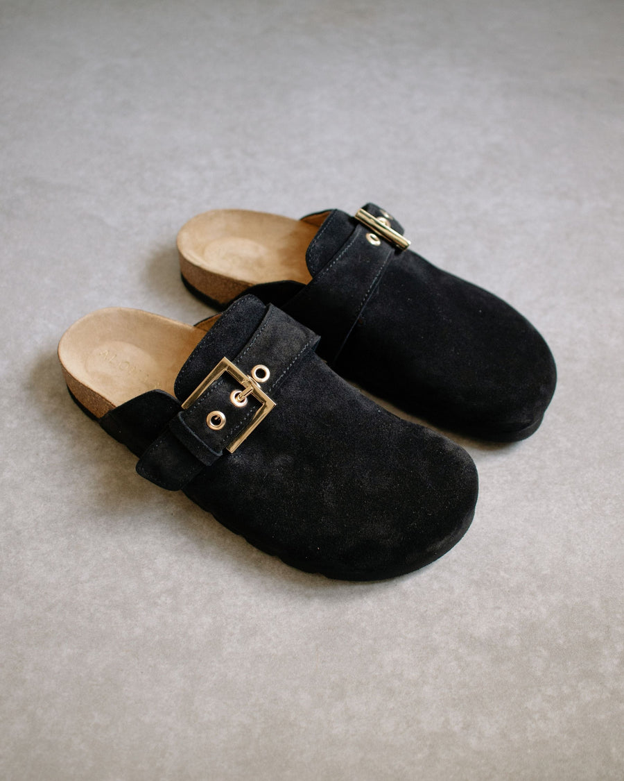 Cozy Black Suede