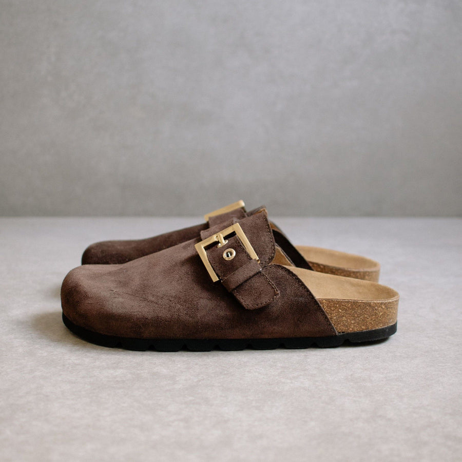 Cozy Dark Brown Suede