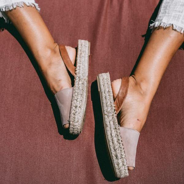 ibizas pink pale essential espadrilles leather