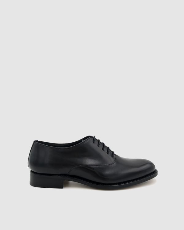 London - Oxford Leather Shoes - Black