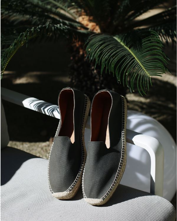 Men Espadrilles Canvas Khaki