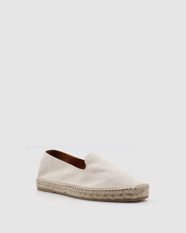 Men Espadrilles Canvas Off White