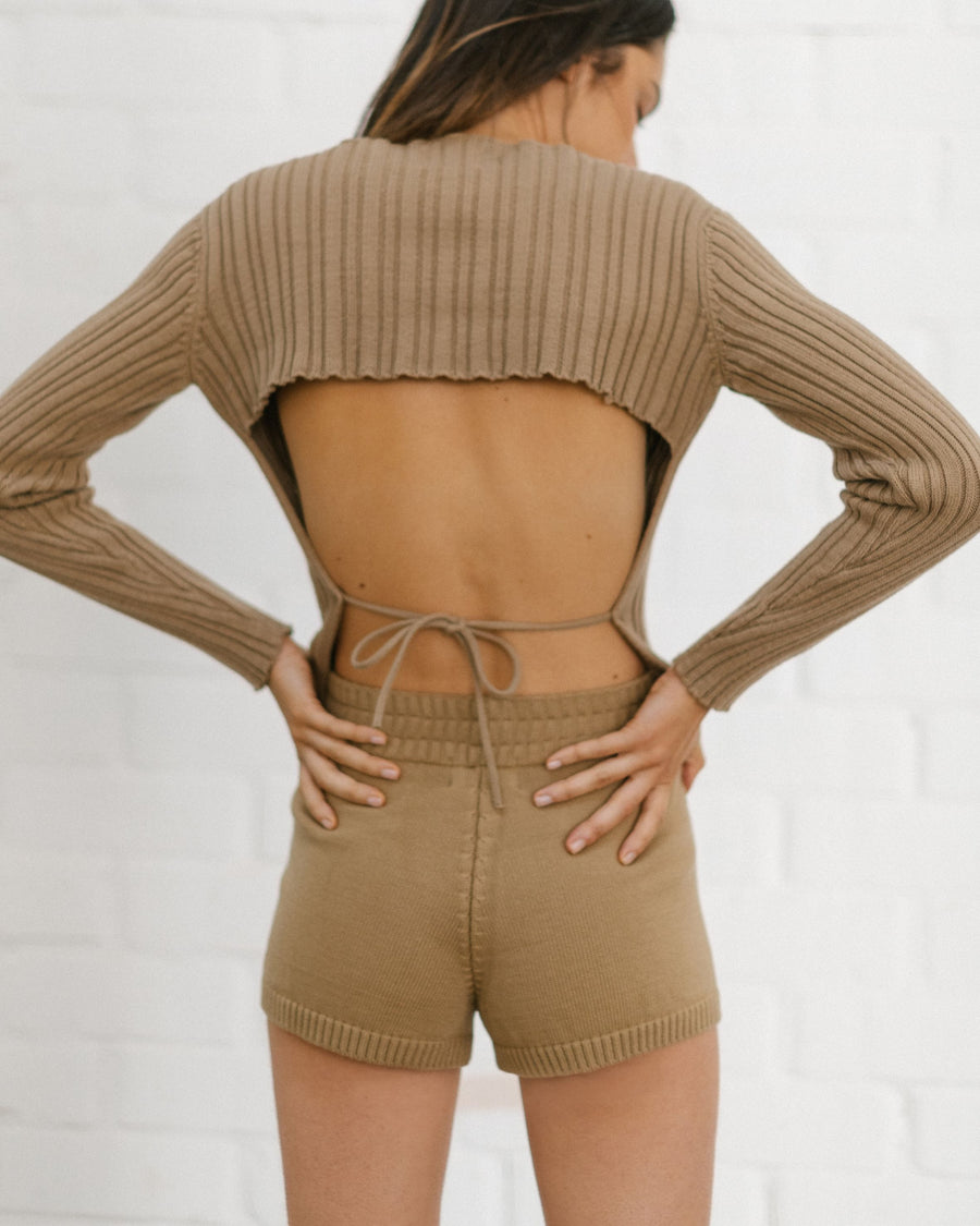 Nice Knit Short Camel