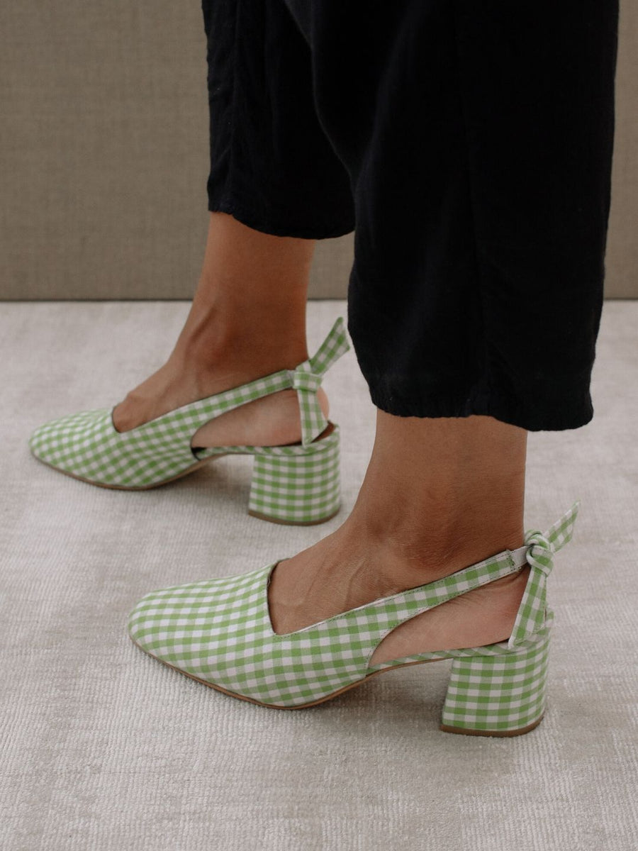 Pinterest x ALOHAS | Charlotte Light Green Gingham by HEY MERCEDES