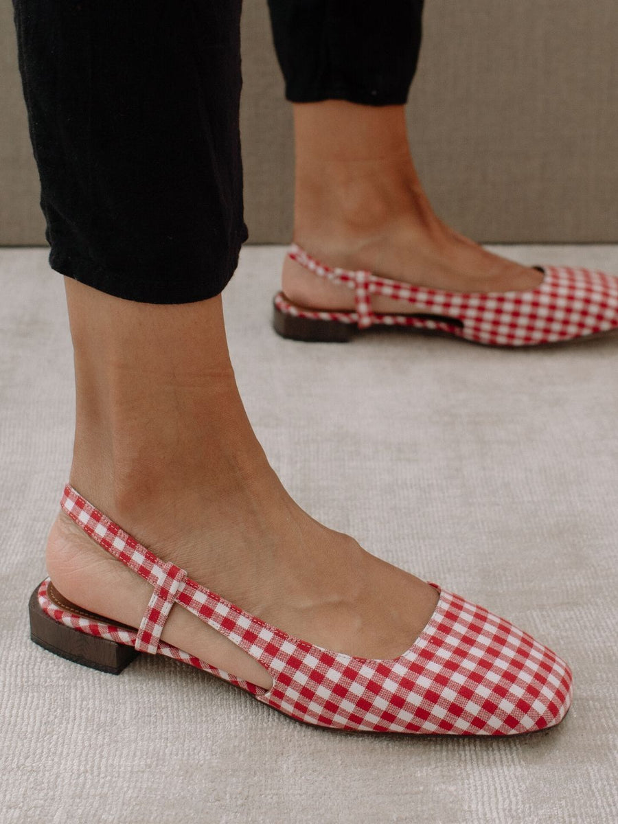Pinterest x ALOHAS | Holly Red Gingham by MACARENA GEA