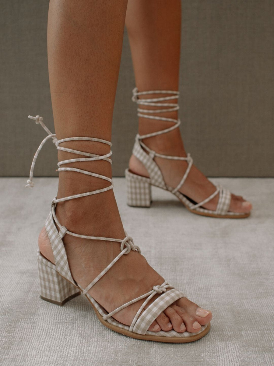 Pinterest x ALOHAS | Sophie Beige Gingham by IRIA LATA
