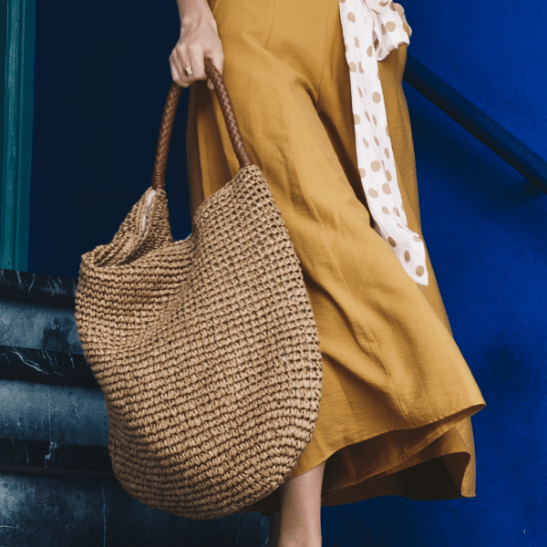 Domenica the Label - Saridinia Raffia Sac - Camel