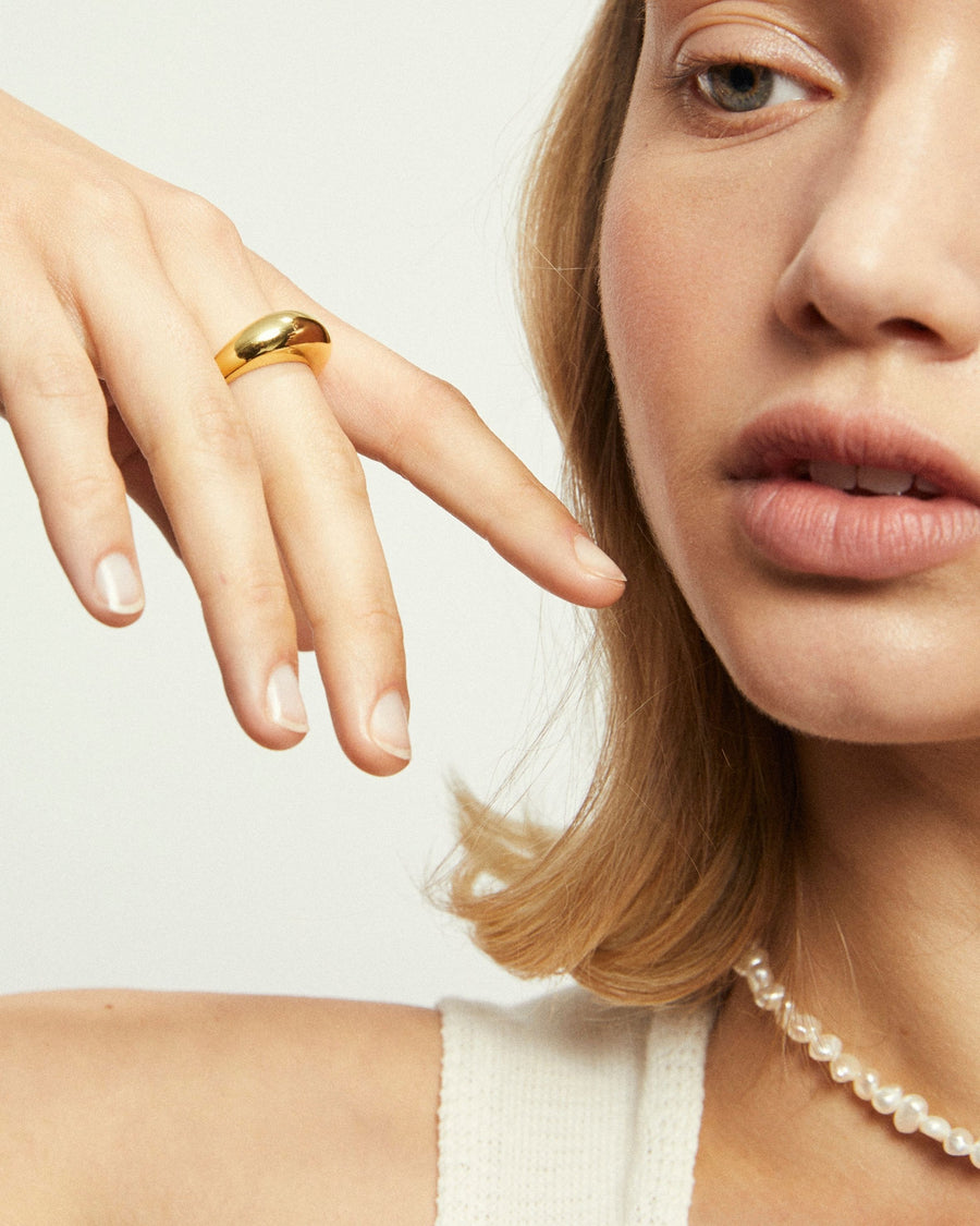 Simple Maxi Ring Gold