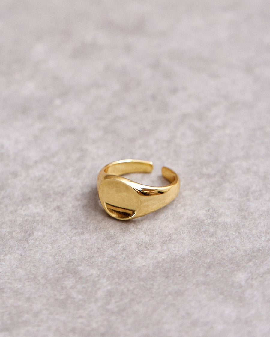 Stamp Ring Gold