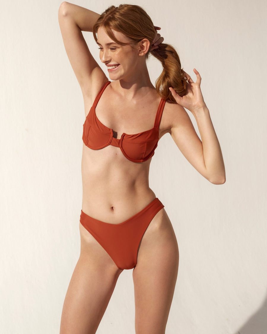 The Kite Bikini Bottom Rusty Red