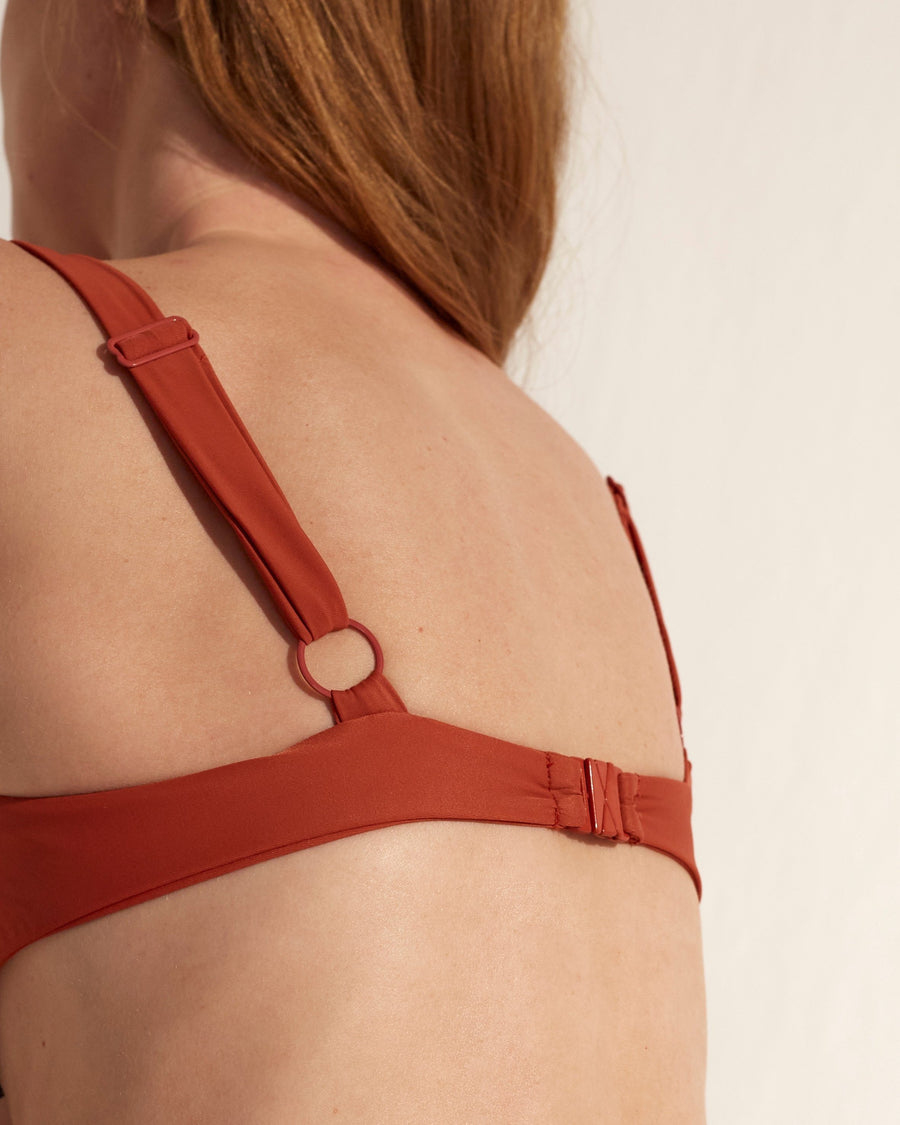 The Loop Bra Bikini Top Rusty Red