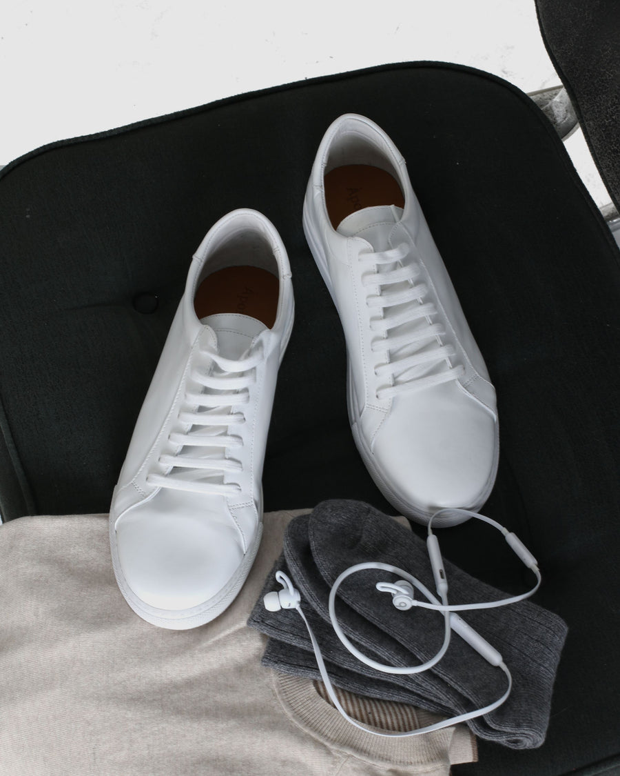 Tokyo - Men Leather Sneakers - White