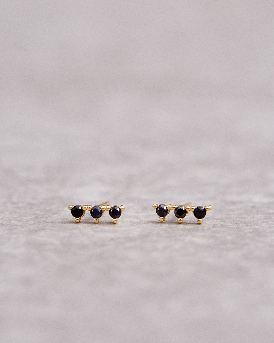 Triplet Earrings Black