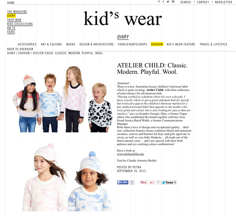KID'S WEAR MAGAZINE - 1 OCTOBER 2015