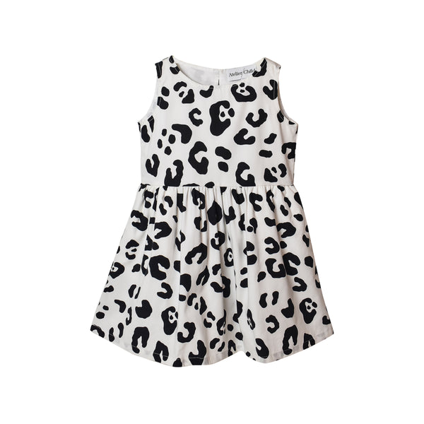 Leopard Dress - White