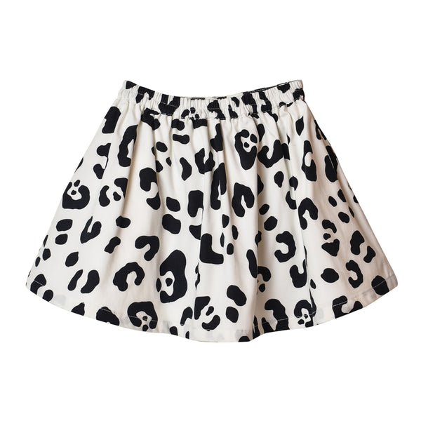 Leopard Skirt - White