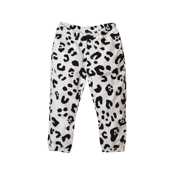 Leopard Pants - White