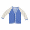 The Colourblock Cardigan - Sky