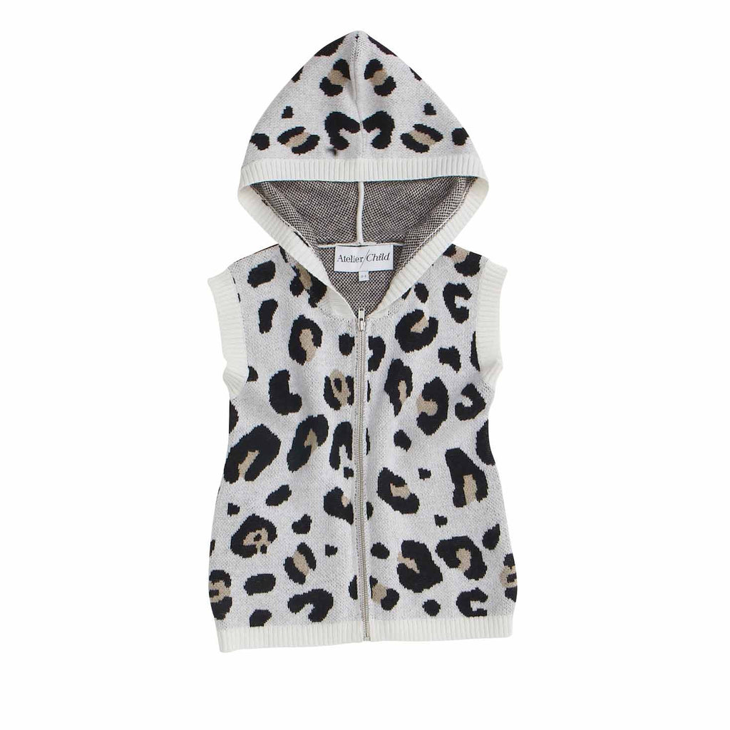 The Leopard Hooded Tank - Sand