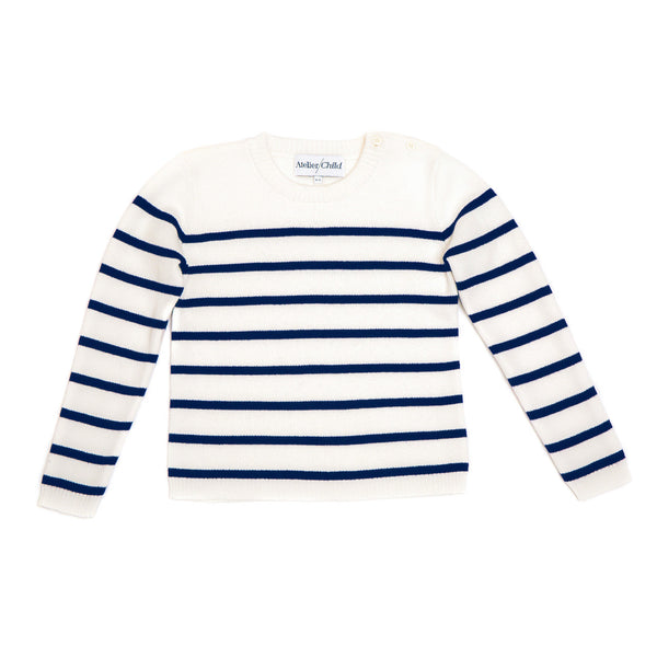 Navy Striped Crew