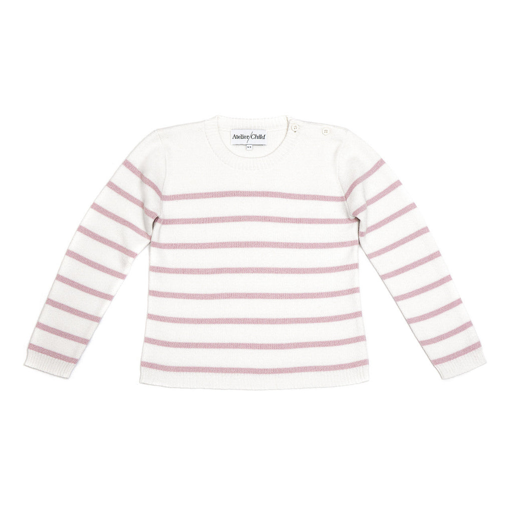 Pink Striped Crew