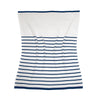 Navy Striped Blanket