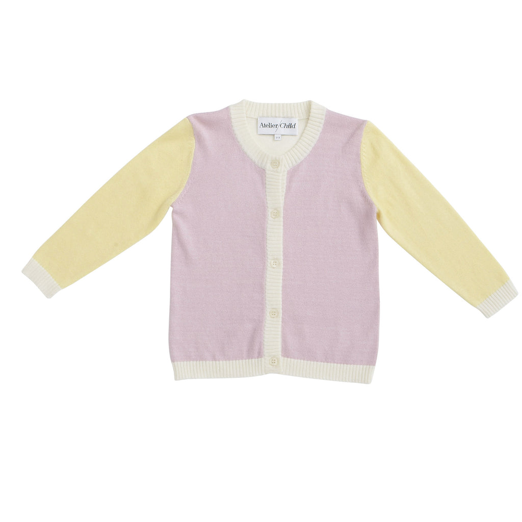 The Colourblock Cardigan - Rose
