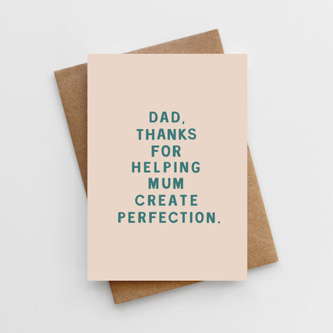 'Perfection' Father's Day Card